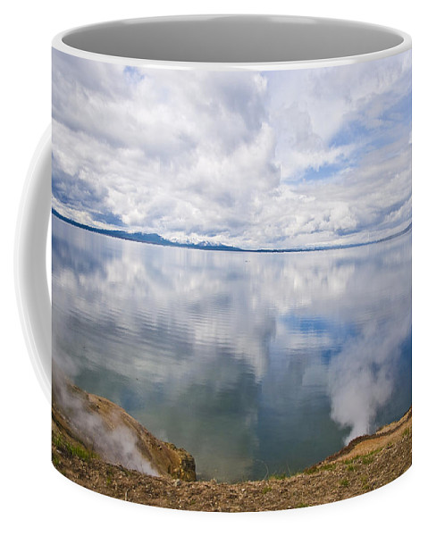 Clouds Coffee Mug featuring the photograph Clouds And Steam by Terry Anderson