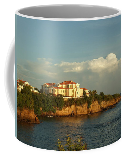 Coffee Mug featuring the photograph Clouds Over Library by Katerina Naumenko
