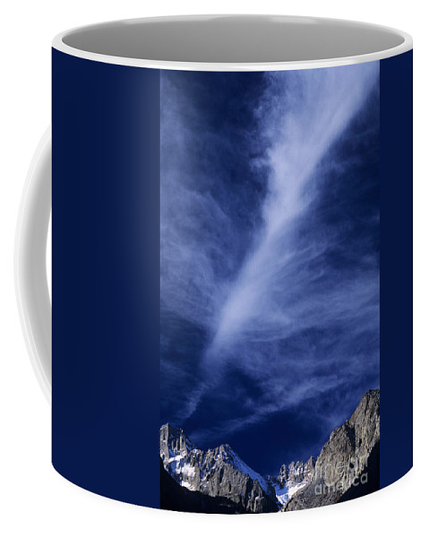 North America Coffee Mug featuring the photograph Clouds Over Middle Palisades Glacier California by Dave Welling