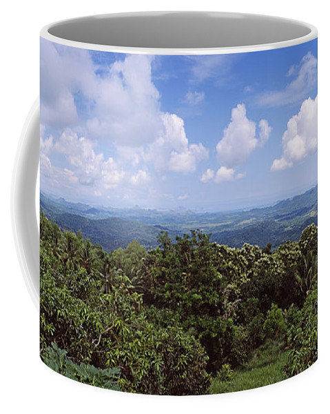 Photography Coffee Mug featuring the photograph Clouds Over Mountains, Flores Island by Panoramic Images