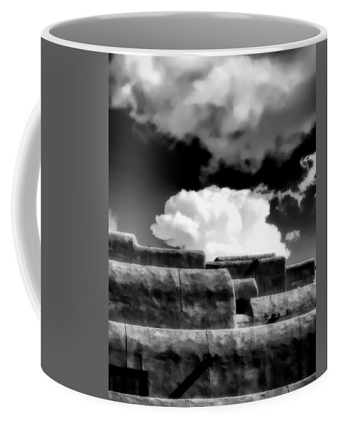 Cloud Coffee Mug featuring the photograph Clouds Over Santa Fe by Terry Fiala