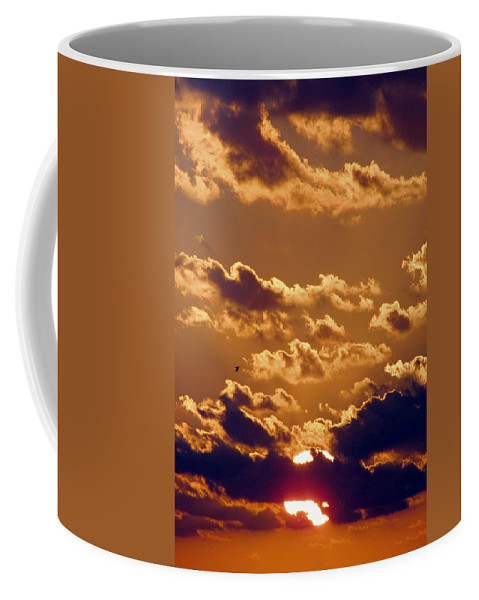 Sunset Coffee Mug featuring the photograph Key West Cloudy Sunset by Bob Slitzan