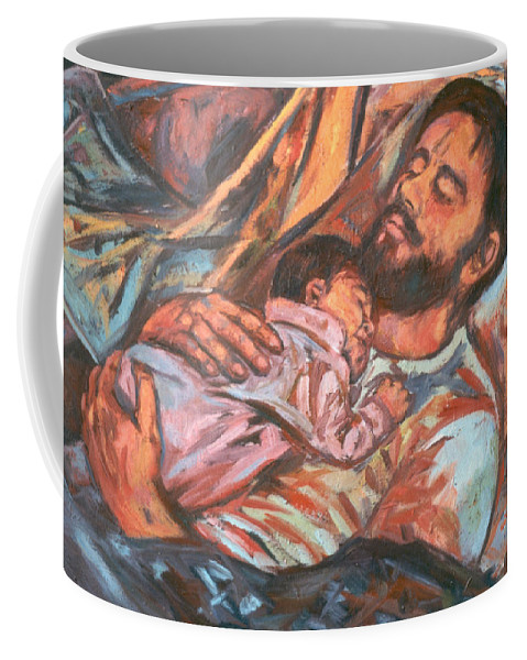 Figure Coffee Mug featuring the painting Clyde And Alan by Kendall Kessler