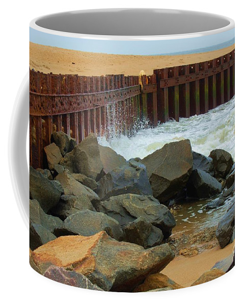 Water Coffee Mug featuring the photograph Coast Of Carolina by Debbi Granruth