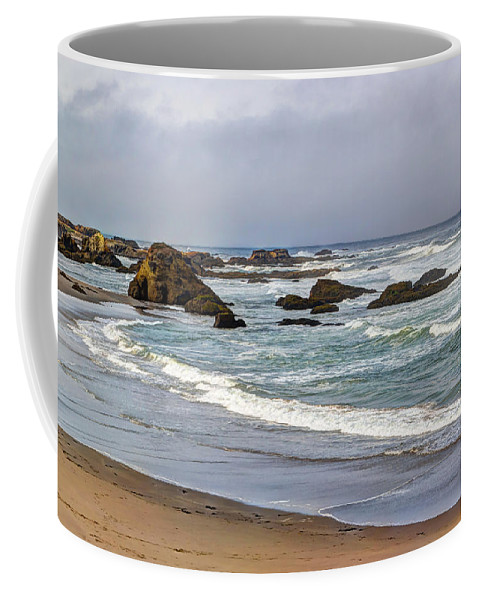 Beach Coffee Mug featuring the photograph Coastal Serenity by Heidi Smith