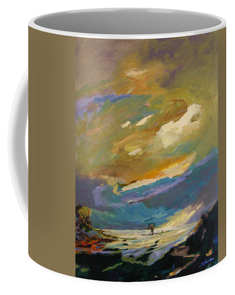 Impressionism Coffee Mug featuring the painting Coastline by Julianne Felton
