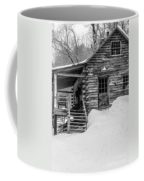 Mountains Coffee Mug featuring the photograph Slayton Pasture Cobber Cabin Trapp Family Lodge Stowe Vermont by Edward Fielding