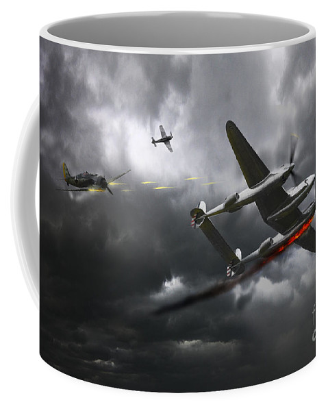 P38 Lightning Coffee Mug featuring the digital art Cobra Strike by J Biggadike