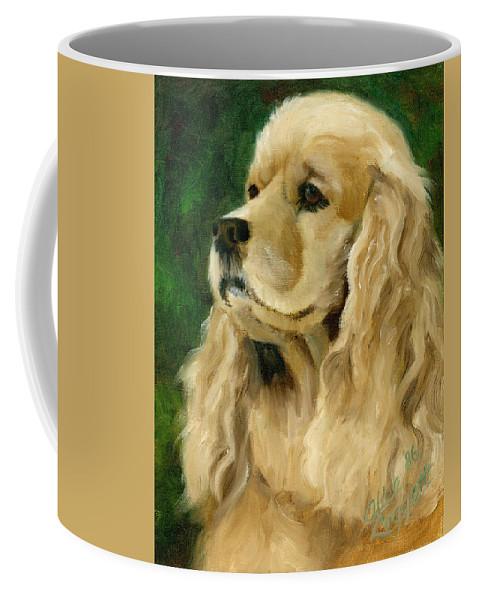 Cocker Spaniel Coffee Mug featuring the painting Cocker Spaniel Dog by Alice Leggett