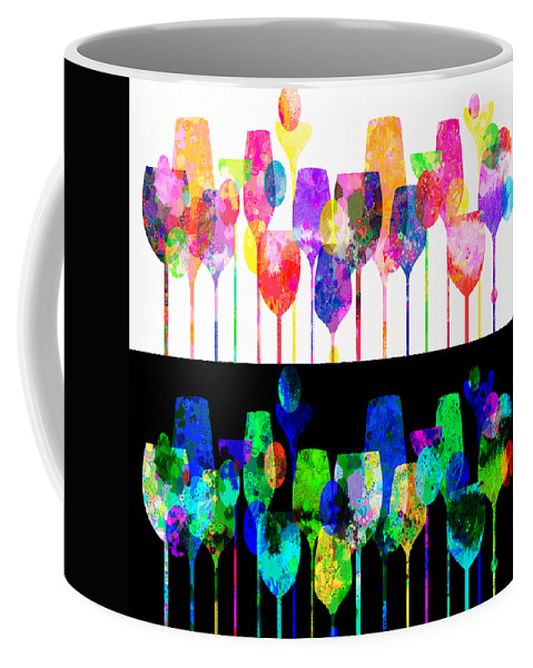 Cocktail Coffee Mug featuring the mixed media Cocktail Hour 2 by Angelina Vick