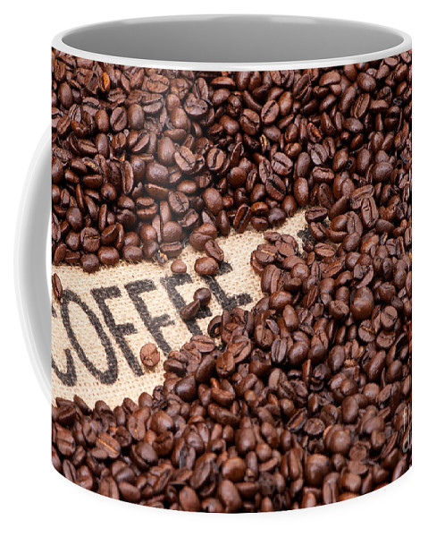 Arabica Coffee Mug featuring the photograph Coffee Beans by Rick Piper Photography