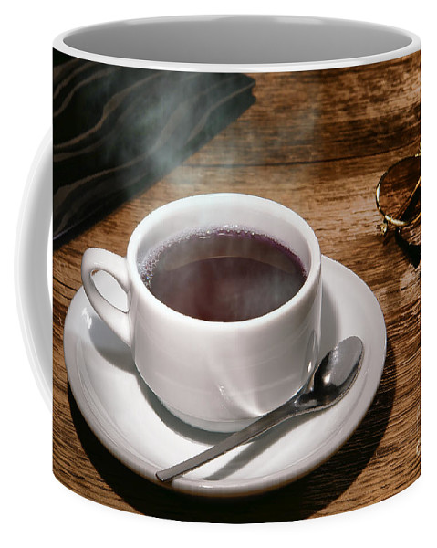 Cafe Coffee Mug featuring the photograph Coffee For The Voyageur by Olivier Le Queinec