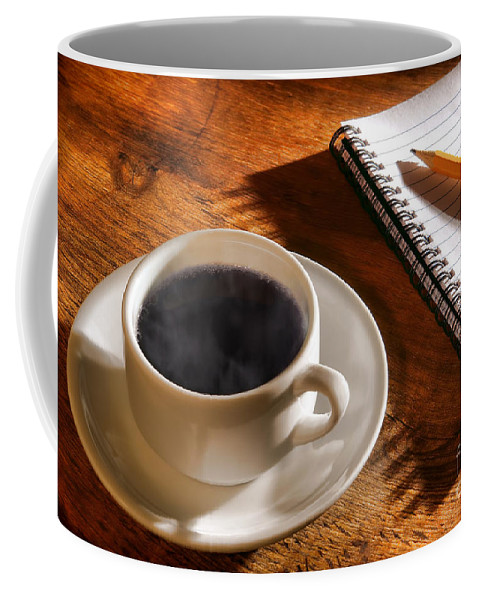 Coffee Coffee Mug featuring the photograph Coffee For The Writer by Olivier Le Queinec