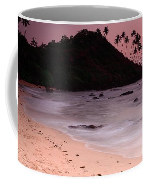 Arabian Sea Coffee Mug featuring the photograph Cola Beach Sunset by Deborah Benbrook