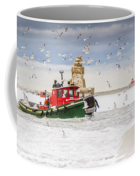 Cleveland Coffee Mug featuring the photograph Cold Cleveland by Jennifer Grover