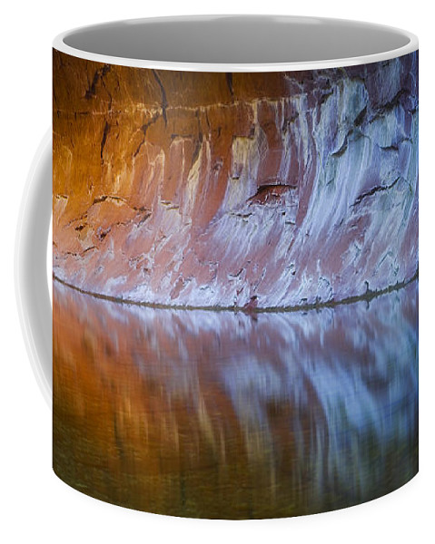 West Fork Oak Creek Canyon Coffee Mug featuring the photograph Cold Fire by Peter Coskun