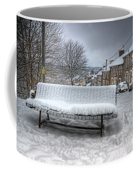 Snowy Seat Coffee Mug featuring the photograph Cold Seat by Steve Purnell