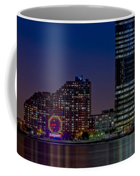 Colgate Clock Coffee Mug featuring the photograph Colgate Clock Exchange Place by Susan Candelario