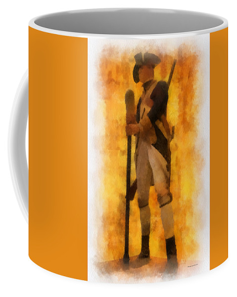 Soldier Coffee Mug featuring the photograph Colonial Soldier Photo Art by Thomas Woolworth