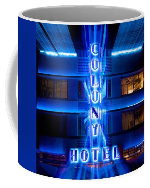 Colony Hotel Coffee Mug featuring the photograph Colony Hotel 2 by Dave Bowman