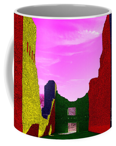 Salinas Pueblo Missions National Monument Coffee Mug featuring the photograph Color At Quarai by Vivian Christopher