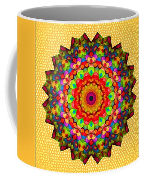 Kaleidoscope Coffee Mug featuring the photograph Color Circles Kaleidoscope by Liz Mackney