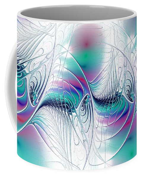 Color Coffee Mug featuring the digital art Color Elegance by Anastasiya Malakhova