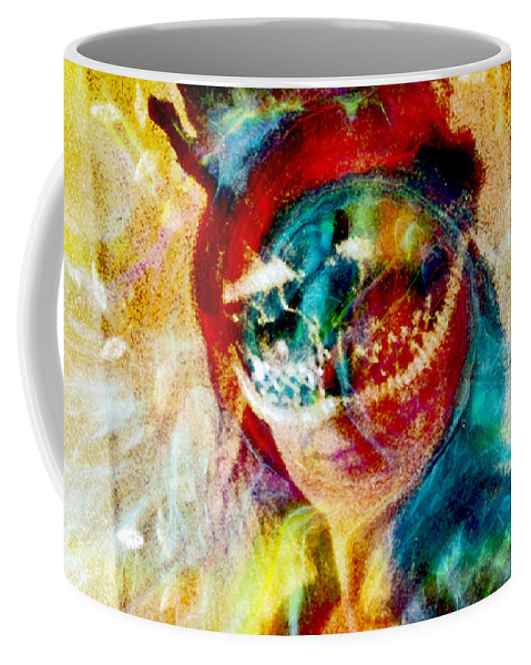 Color Mask Coffee Mug featuring the photograph Color Mask by Linda Sannuti