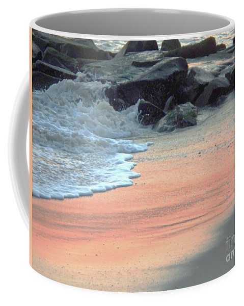 Color Coffee Mug featuring the painting Color Of Sand Cape May Nj by Eric Schiabor