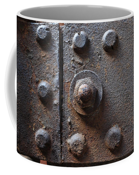 Iron Coffee Mug featuring the photograph Color Of Steel 3 by Fran Riley