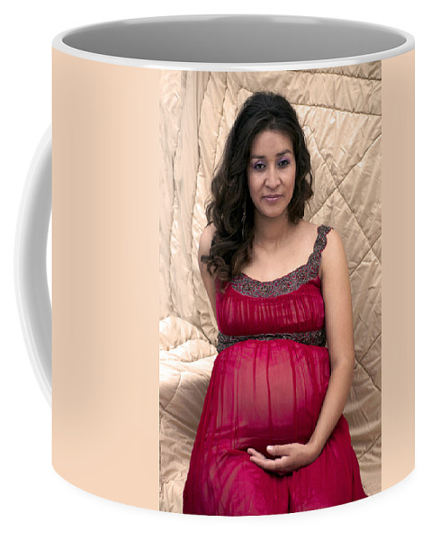 Color Coffee Mug featuring the photograph Color Portrait Young Pregnant Spanish Woman I by Sally Rockefeller