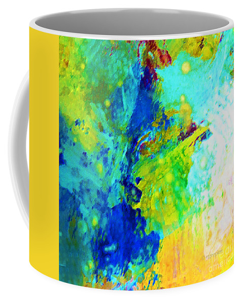 Abstract Coffee Mug featuring the photograph Color Wash Abstract by Regina Geoghan