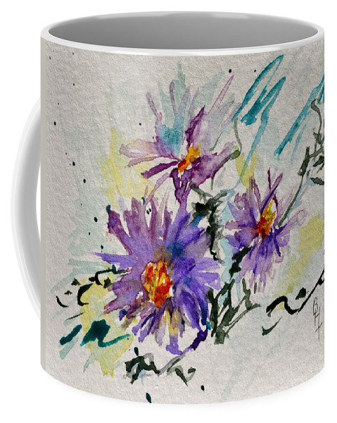 Aster Coffee Mug featuring the painting Colorado Asters by Beverley Harper Tinsley