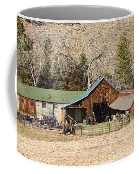 Barns Coffee Mug featuring the photograph Colorado Barn by James BO Insogna