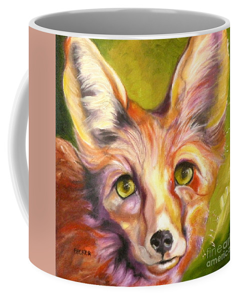 Oil Painting Coffee Mug featuring the painting Colorado Fox by Susan A Becker