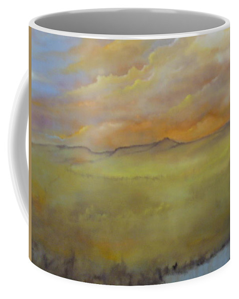 Thrauthemburg Coffee Mug featuring the painting Colorado Morning by Lord Frederick Lyle Morris - Disabled Veteran