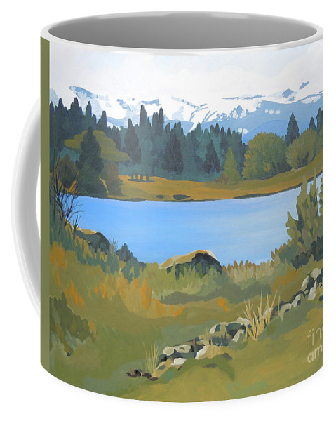 Mountains Coffee Mug featuring the painting Colorado Mountains by Tonya Henderson