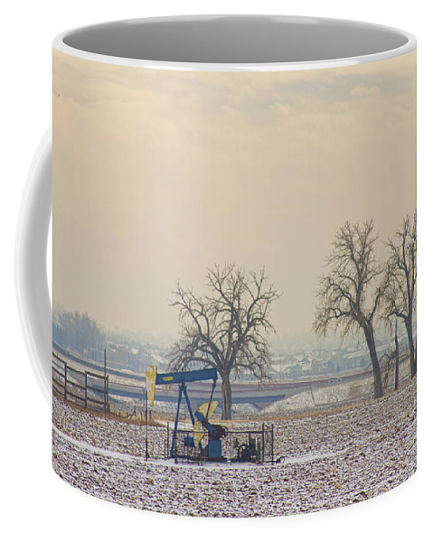 Jackpump Coffee Mug featuring the photograph Colorado Pumpjack by James BO Insogna