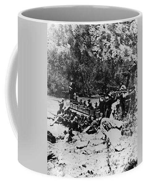 1878 Coffee Mug featuring the photograph Colorado Railroad Wars by Granger