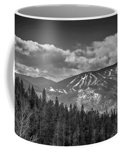 Ski Coffee Mug featuring the photograph Colorado Ski Slopes In Black And White by James BO Insogna