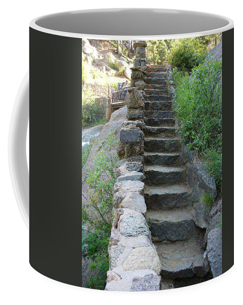 Lyle Coffee Mug featuring the painting Colorado Steps by Lord Frederick Lyle Morris