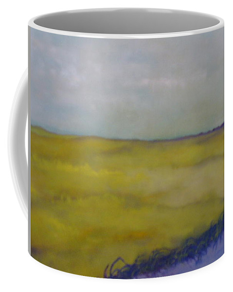 Yellow Coffee Mug featuring the painting Colorado V by Lord Frederick Lyle Morris