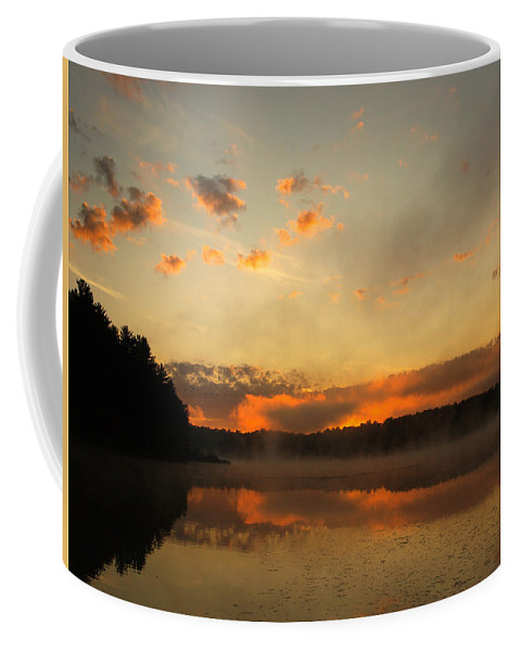 Sunrise Coffee Mug featuring the photograph Colored Clouds by Thomas Young