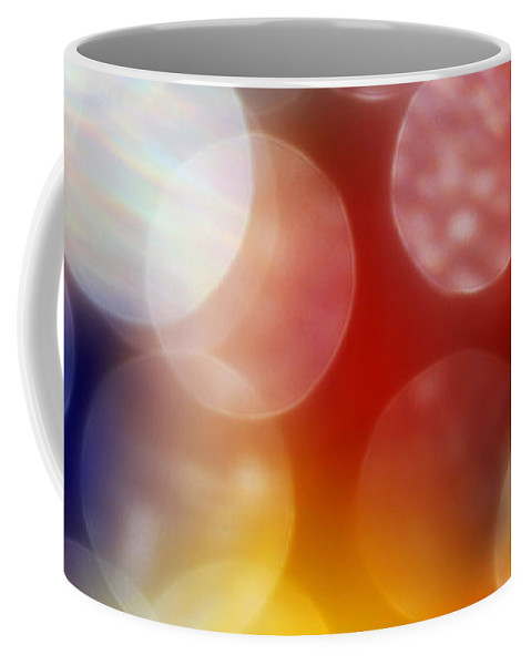 Bright Coffee Mug featuring the photograph Colorful Abstract 4 by Mary Bedy