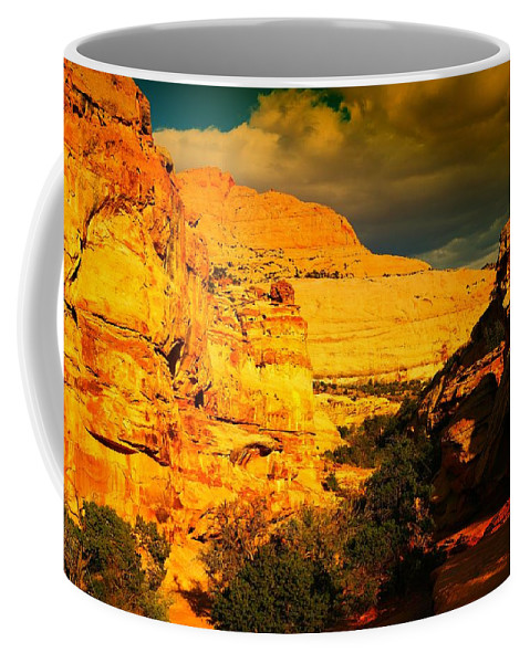 Landscape Coffee Mug featuring the photograph Colorful Capital Reef by Jeff Swan