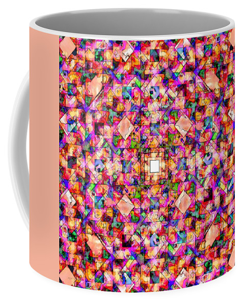 Digital Art Coffee Mug featuring the digital art Colorful Digital Abstract by Phil Perkins