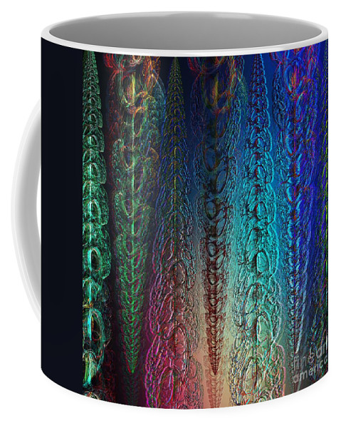 Garlands Coffee Mug featuring the digital art Colorful Garlands by Klara Acel