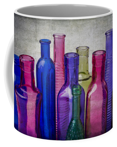 Colorful Coffee Mug featuring the photograph Colorful Group Of Bottles by Garry Gay