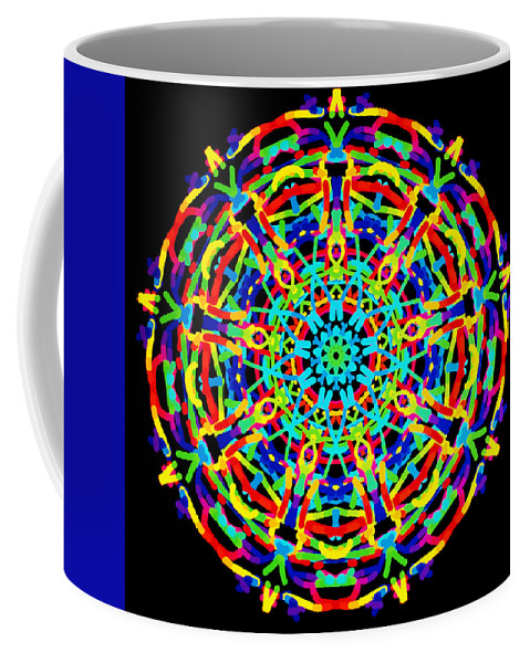 Barbara Snyder Coffee Mug featuring the digital art Colorful Kolide by Barbara Snyder