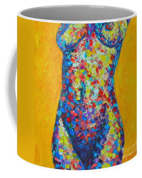 Nude Coffee Mug featuring the painting Colorful Nude by Ana Maria Edulescu